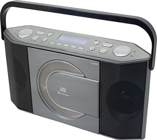 Soundmaster RCD1770AN DAB+ UKW Radio CD-MP3 Spieler Tragbar Batterie- und Netzbetrieb LCD Display mit Datum und Uhrzeit USB- und Kopfhöreranschluss