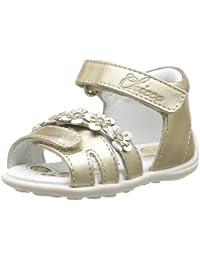 Chicco Garol 1051483000000 - Sandalias de cuero para bebé niña, color dorado, talla