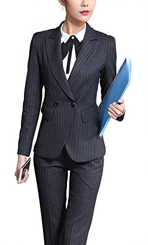 LISUEYNE Frauen DREI Stücke Office Lady Blazer Business Suit Set Damen Suits Arbeit Skirt/Pant, Vite-Jacke - 3 Stück Office