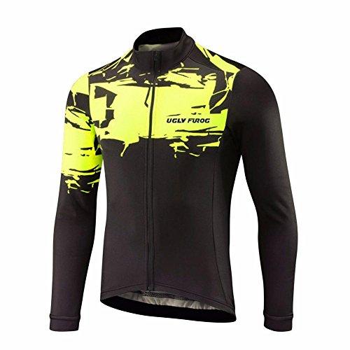 UGLYFROG #18 Radsport Trikots Lange Ärmel Sport & Freizeit Shirts Frühjahr-Herbst Style (Herren Harley Davidson Armband)