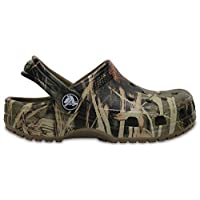 Crocs - Classic Realtree K Clog (Toddler/Little Kid), UK: 7 UK, Khaki