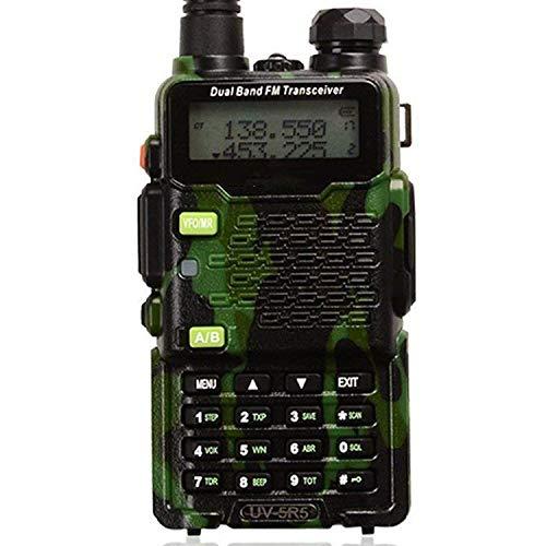 ZUZU Zwei-Wege-Amateurfunk-Transceiver UHF/VHF 136-174/400-520MHz, 65-108MHz FM mit verbessertem Hörer Walkie Talkie UV-5R5 5W Dual-Band,C