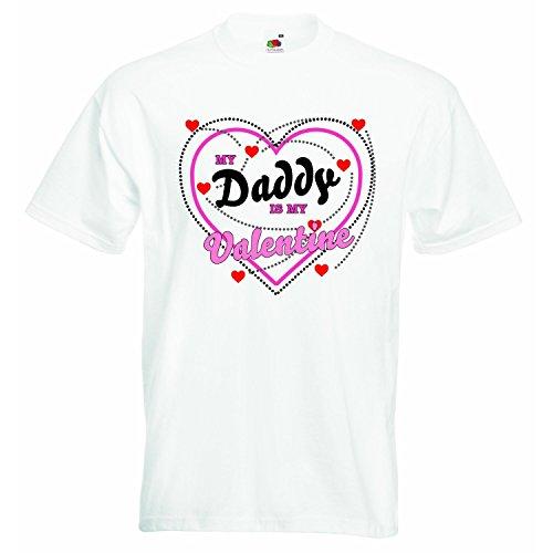 My Daddy is my Valentine-Jungen Mädchen T-Shirt Personalisierte Tees Unisex Jungen Mädchen Tshirt Kleidung mit bedruckt Funny Quotes-Weiß-4-5Jahre (Valentine Shirts Jungen)