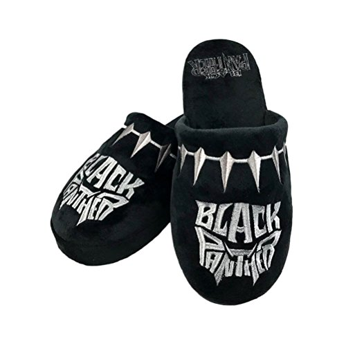 Unbekannt Black Panther Slippers Logo Size L Groovy Marvel Calzature