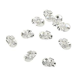 10 Blatt 3D Nagelkunst Sticker Aufkleber Nail Tips Dekorationen - Silber Totenkopf, 75mm x 3mm