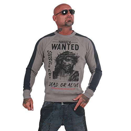 Yakuza Herren Profile Two Face Pullover Sweater