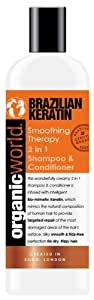 Organic World 500ml Brazilian Keratin Smoothing Therapy 2-in-1 Shampoo and Conditioner
