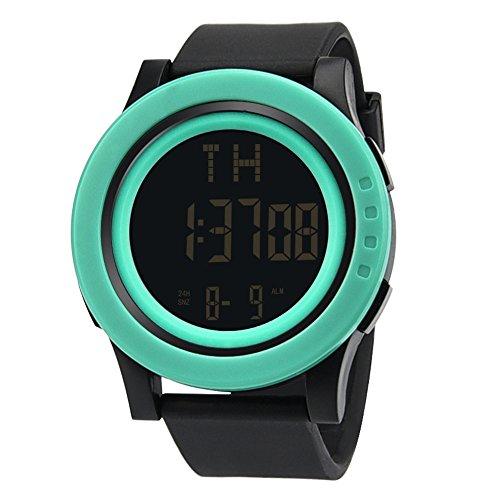 Challeng Herrenuhren Digitale Sportuhr, militärische Outdoor Uhr für Männer Wasserdichte LED Wasserdicht Uhren elektronische Gegenlicht Gutscheine