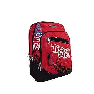Seven – Mochila Escolar Americana con Orificio para Cable USB, 43 x 31 x 20 cm, Color Rojo