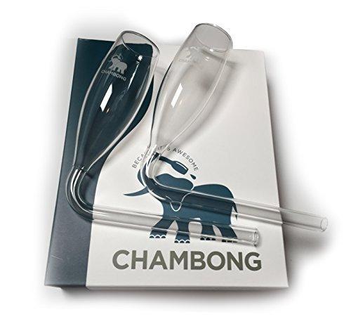 Chambong Lot de 2 verres pour consommation rapide de champagne
