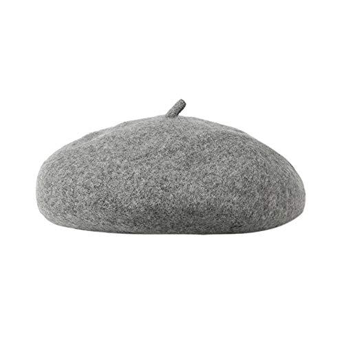 JMETRIC Damen Barett l Herbst Winter-mützel Modemütze l einfarbig mütze lBarett Hutlwarme Mütze