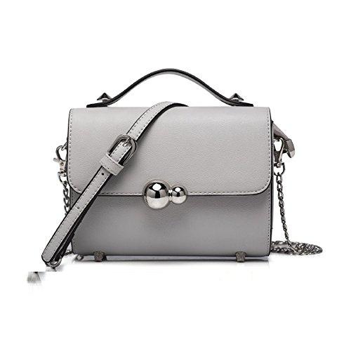 Syknb Einfache Mini - Kette Tasche Ranzen Netzsacks Tragbare Kleine Tasche Light Grey
