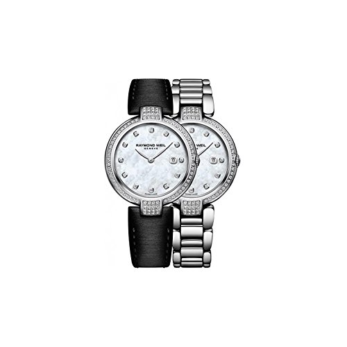 Raymond Weil Women's Steel Case Swiss Quartz MOP Dial Watch 1600-SCS-97081