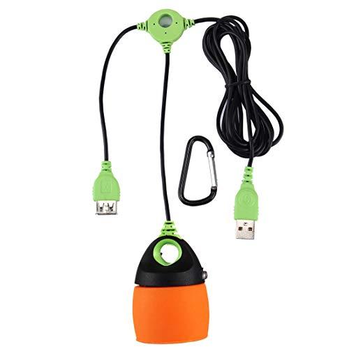 GuoBo LED Light LED-Licht 0,5 Watt LED Campingzelt Licht verkettbar USB-Licht, 200 LM Mini Multifunktions Outdoor-Notlichtlampe, DC 5 V (Orange) (Farbe : Orange)