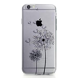 Impressly Hülle für iPhone 6s, Hülle für iPhone 6, Schutzhülle, Handyhülle, Silikon, TPU, Soft Case mit Strasssteinen - Pusteblume