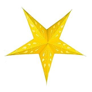 Guru-Shop-Faltbarer-Advents-Leucht-Papierstern-Weihnachtsstern-60-cm-Durian-Gelb-Star-Fensterdeko-5-Spitzen