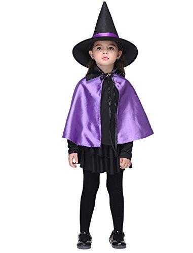 WETOO Halloween Hexe Kostüme Party Kleidung Halloween Cosplay Kostüme Purple Girl's Rock Kostüm mit Hexe (Für Kostüme Kleine Mädchen Tanzabend)