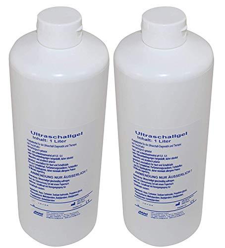 Kontaktgel Ultraschallgel von Seidel Medizin (2 x 1000 ml) 2 Schallköpfe