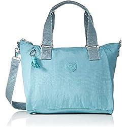 Kipling - Amiel, Bolsos maletín Mujer, Azul (Aqua Frost), 27x24.5x14.5 cm (B x H T)