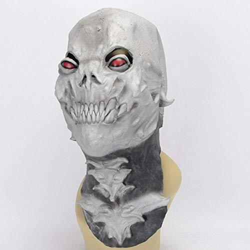 Littlefairy Halloween mask,Halloween Masquerade Prom Night Party red Eye Alien Skull Grey Mask