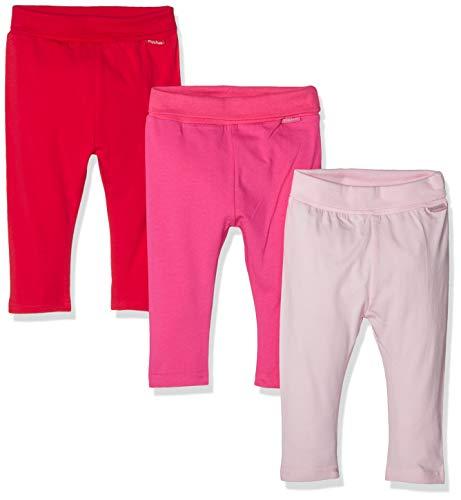 Playshoes Unisex Baby Rot-pink-rosa Im 3er Pack Leggings, (Sortiert 999), 62 (Herstellergröße: 62/68) (erPack 3 -