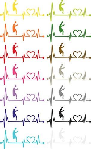 Herzlinien Aufkleber Handball