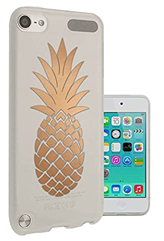 C0729 - Large Tropical Pineapple Fruit Trend Design Apple ipod Touch 5 Fashion Trend Protecteur Coque Gel Rubber Silicone protection Case Coque