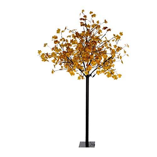 Lichterbaum Außen Herbst Leuchtbaum LED Außenleuchte Ahorn Gartenbeleuchtung (Dekobaum, Baum Beleuchtet, 5 m Kabel, Höhe 210 cm)