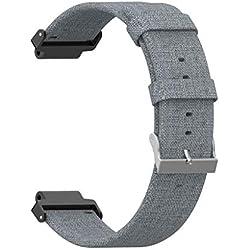 Bracelet pour Garmin Forerunner 220 230 235 630 620 735 20 mm Smartwatch Accessoires Nylon Bracelet de rechange Smartwatch pour hommes et femmes 10x5x5cm vert
