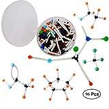 Mengger Modello molecolare Set 96pcs Modellini Molecolarie Struttura Chimica Organica Inorganica Kit Atomi e Molecole Modelli
