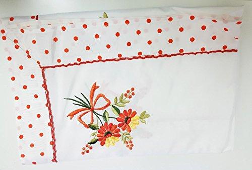Takestop® Centro Primavera Naranja Lunares o flores flores flor tela decoro Centro Tabla Mantel 36x 36cm