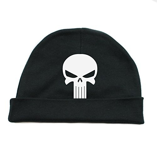 e522787ee91 Crazy Baby Clothing White Punisher Skull Infant Baby Beanie Cap Winter Hat  One Size - Black