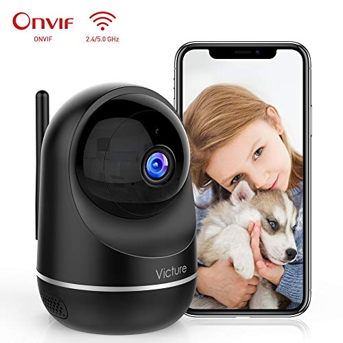 Victure 1080P Dual Band 2.4G 5G Cámara IP WiFi,Cámara de Vigilancia FHD con Visión Nocturna,Cámara de Mascota,Detección de Movimiento,Audio de 2 Vías, 2.4GHz WiFi, Compatible con iOS/Android