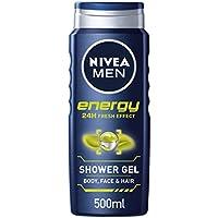 Nivea men - Energy, gel de ducha, pack de 6 (6x 500 ml ) - Version importada (UK)