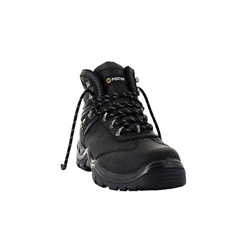 Foxter Chaussures de Sécurité Montantes Shark - Robustes et Ultra Confort - Cuir Gras - Homme/Mixte - S3 SRC WRU HRO Cuir