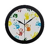 Les empreintes de mur simples modernes faites par les enfants ont isolé l'horloge murale intérieure non-tic-tac silencieux quartz silencieux de mouvement de mouvement de balayage Clcok pour le bureau