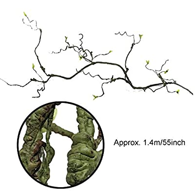 PietyPet 21 pcs Reptile Lizard Habitat Decor Accessories, Bearded Dragon Hammock, Fabric Reptile Hammock with Artificial Climbing Vines and Plants for Chameleon, Lizards, Gecko, Snakes by PietyPet