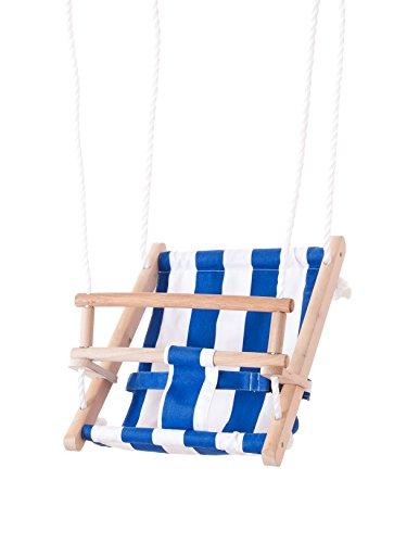 beluga Spielwaren 70205 - TWIPSOLINO Babyschaukel, blau/weiß
