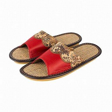 LQXZM Confortable Motif floral Femmes d'été , Chaussons pour femme Chaussures Accueil Appartements Ruby