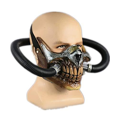 Kostüm Gesicht Maus - VAWAA Schädel Dampf Punk Mad Gas Max Maske PVC Halloween Party Masken Kostüm Cool Maske Film Gesicht Maus Maske