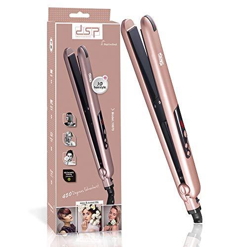 DSP Haarglätter Professional Ionic Ceramic Lockenwickler mit LED-Anzeige und kaltem Griff, 100 °...