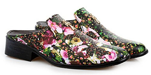 Men's Hairstylist Printed Half Draggged Pointy Leather Oxford Shoes 2 No after with