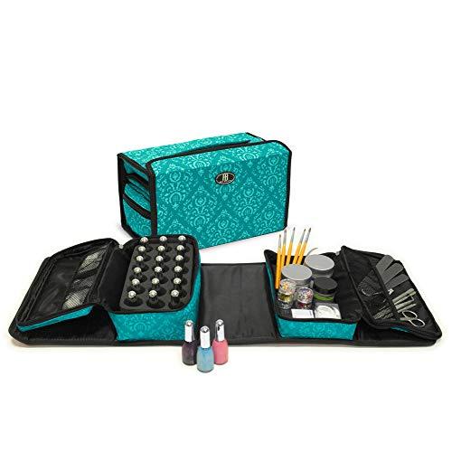 Roo Beauty - Ensemble de Rangement 2 Pièces pour Kit de Manucure Professionnel - Vert d'eau Impérial