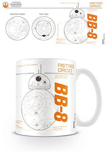 I BB-8 Sketch 11oz/315ml Kaffeetassen, Mehrfarbig ()