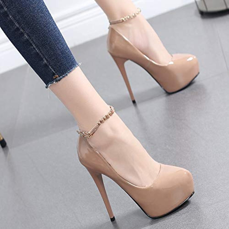 HRCxue Tacco a spillo Scarpe da donna con fibbia ad un bottone 12CM scarpe col tacco alto da donna con scarpe... | Di Qualità Dei Prodotti  | Maschio/Ragazze Scarpa