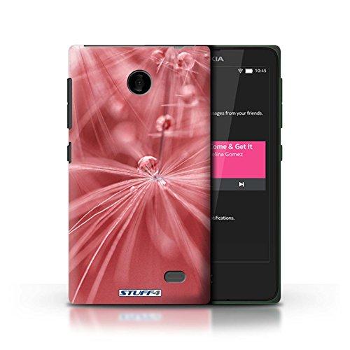 Kobalt® Imprimé Etui / Coque pour Nokia X / Fleur Bleu conception / Série Gouttes de Fées Fleur Rouge