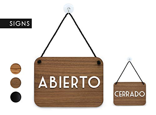 3DP Signs | Retrò Vintage - Abierto/Cerrado - Cartel