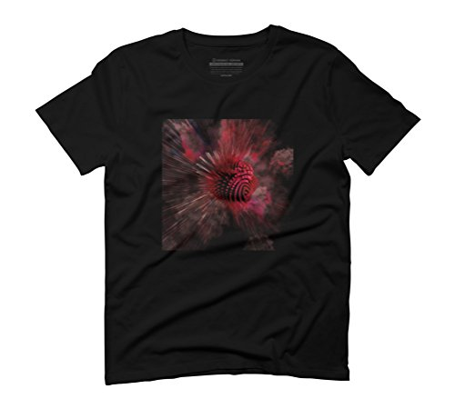The Cyborg Heart of the Cosmos Men's Graphic T-Shirt - Design By Humans Black