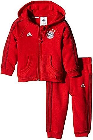 Adidas Combinaison bébé FC Bayern München 3-Stripes 3-4 ans True Red/Craft Red