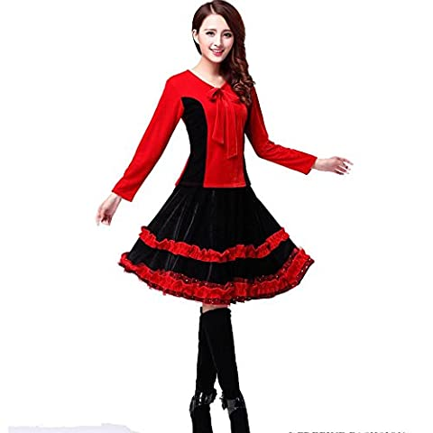 Costumes Ballroom Dancer Halloween - Byjia Femme Jupe Large Latin Square Costume